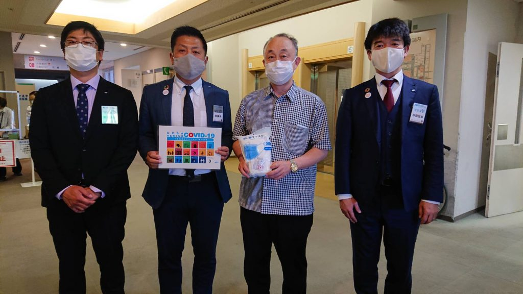 医療機関への10,000枚マスク寄付(独立行政法人国立病院機構 信州上田医療センター)
