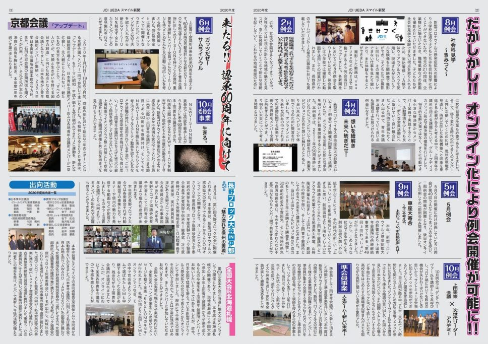 上田JCスマイル新聞 事業報告