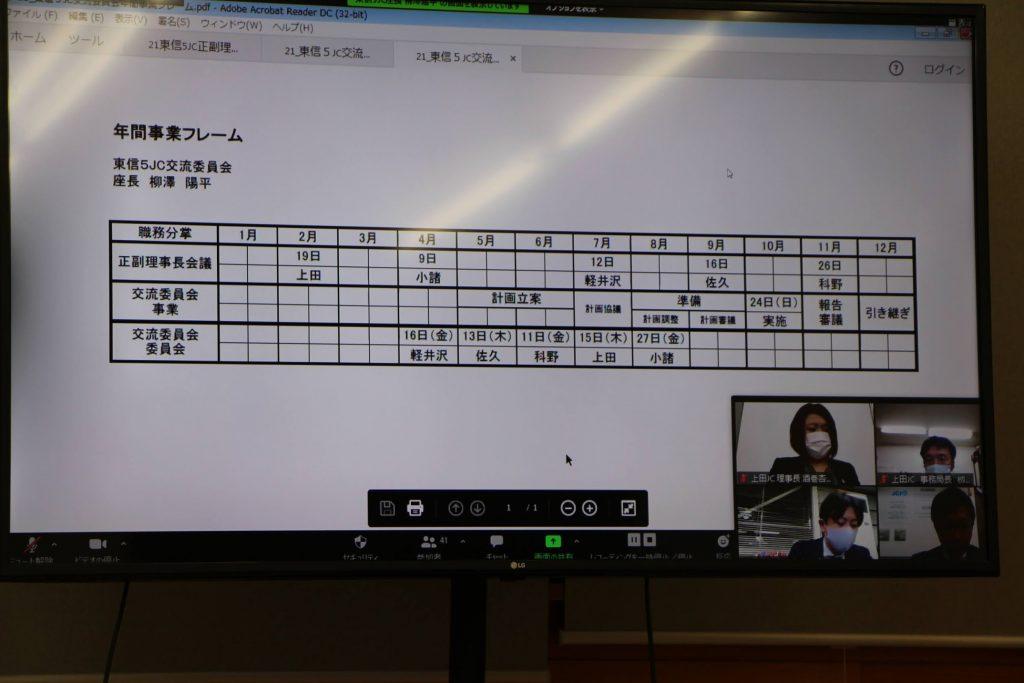 2021年度 東信5JC正副理事長会議 上田会議 事業報告